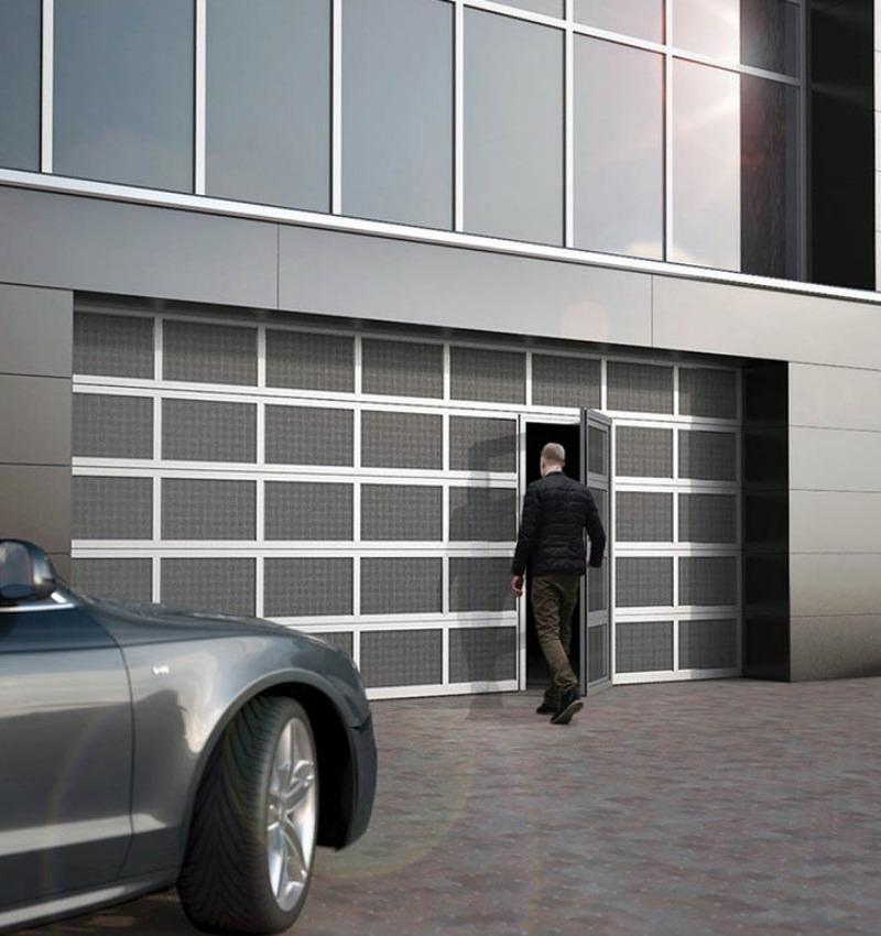 Porte sezionali industriali Ryterna - Microforati | NOVA SISTEM