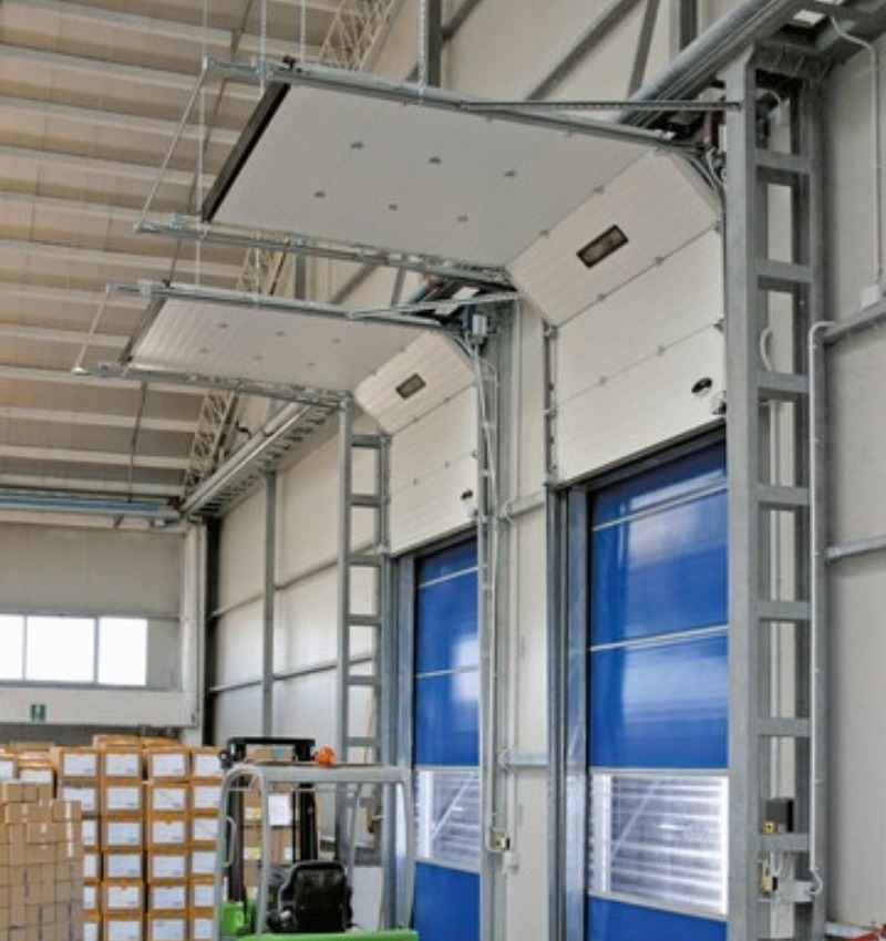 Automazioni per porte sezionali di grandi dimensioni - Ditec Dod | NOVA SISTEM BERGAMO